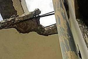 The residents said that two instances of collapsing of upper layer (plasters) of walls in balconies have led to panic in the society.