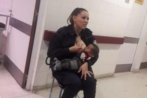 Celeste Jaqueline Ayala, woman police sergeant in Argentina on duty  breastfed a crying baby to calm her down, and following this rare gesture she has now been promoted to the rank of an officer.