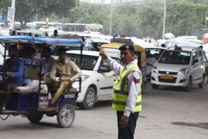 Traffic police officials said vehicular movement was not affected during in the drive.