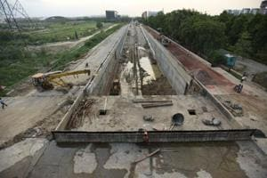 The under-construction  NTPC underpass  in Noida is scheduled to be opened to public on October 2 this year after a two year delay.