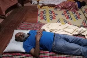 KJ Alphons is being trolled on Twitter after he posted a picture of sleeping on the ground at a relief camp in flood-hit Kerala.