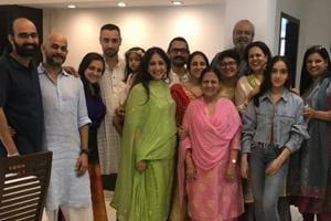 Aamir Khan shared this picture of his happy family on Twitter.