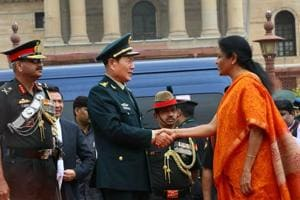 Nirmala Sitharaman and her Chinese counterpart General Wei Fenghe held a bilateral meeting on Thursday