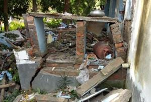 A Trinamool Congress worker was killed and six other were injured, two of them critically, when an explosion took place in a party office in Bengal's West Midnapore district on Thursday morning, minutes before a meeting was scheduled to start.