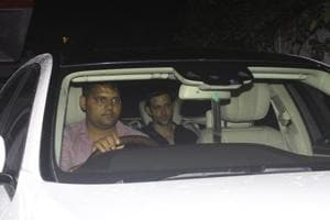 Hrithik Roshan spotted at the residence of Sussanne Khan's parents home in Mumbai for Eid.