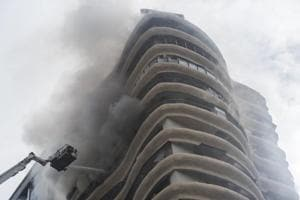 Crystal Towers in Parel, where a fire killed four and injured 27 on Wednesday