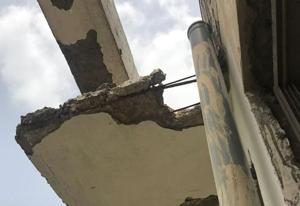 Residents had raised concerns after huge chunk of plasters fell off several balconies on August 2.