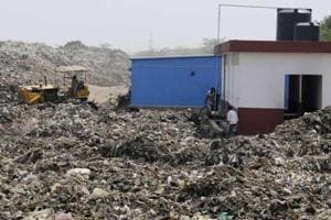 """The protesters accused the company of improper handling of waste, which, they say, is leading to pollution of the  air and water. """"Leachate is making our water poisonous,"""" said KS Tanwar, a resident of Gwal Pahari."""