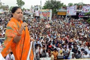 Rajasthan chief minister Vasundhara Raje, in a bid to retain power in the assembly elections later this year, has embarked upon Gaurav Yatra that will traverse more than 6,000 km during the 40-day tour of the state.