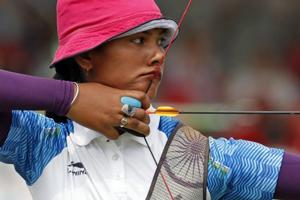 India women's recurve archery team lost to Chinese Taipei.