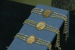 The jewellery shop in Gujarat textiles and diamond polishing in Surat has upped the style quotient by selling rakhis made of gold with profile pictures of Prime Minister Narendra Modi, Yogi Adityanath and Gujarat Chief Minister Vijay Rupani engraved.