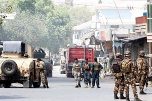 Explosions and gunshots were heard in Jalalabad city, Afghanistan, July 31, 2018.