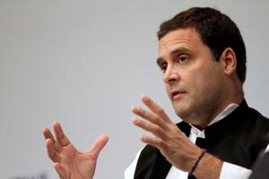 In an interaction with the National Indian Students and Alumni Union (UK) at the London School of Economics, Rahul Gandhi said the first priority of the Congress is to defeat the BJP.