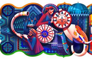A section of the India Republic Day 2018 doodle.