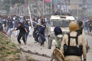 Kashmiri protesters clashed with police on the outskirts of Srinagar after forces killed four militants, including Islamic State of Jammu and Kashmir (ISJK) chief Dawood Salafi during an encounter at Nowshera village in South Kashmir.