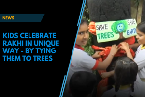 UP kids celebrate rakhi in unique way by tying them to trees