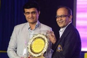 Former India captainSourav Ganguly with Gopal Bose.