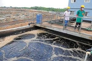 The leachate run-off from the defunct Bandhwari landfill has been blamed for the contamination of water resources in the village and nearby areas.