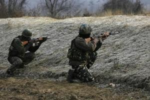 Four militants were reportedly held in Jammu and Kashmir's Handwara on Sunday.