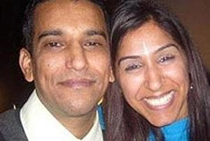 Geeta Aulakh, 28, with her husband Harpreet. Geeta was hacked to death by killers hired by her husband in Greenford, London, on November 16, 2009.