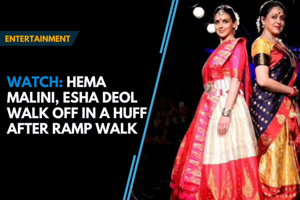 Watch: Hema Malini, Esha Deol walk off in a huff after ramp walk