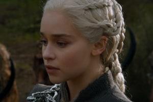 Emilia Clarke as Daenerys Targaryen in a still from Game of Thrones.