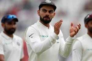 Virat Kohli in action during the third Test match between India and England at Trent Bridge.