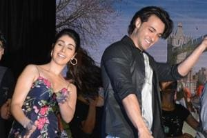 Actors Aayush Sharma and Warina Hussain during the promotion of their upcoming film Loveratri in Mumbai.