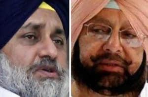 Punjab chief minister Capt Amarinder Singh and SAD president Sukhbir Singh Badal