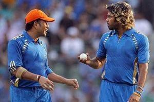 Sachin Tendulkar and Lasith Malinga played together for Mumbai Indians.