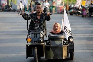 Photos: Vespa enthusiasts showcase extreme mods at Indonesian festival