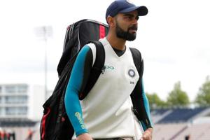 Virat Kohli at the nets ahead of the fourth Test match between India and England in Southampton.
