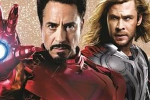 Proof that Iron Man has a heart? Robert Downey Jr is missing his arc reactor.