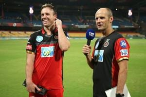 File photo of newly appointed Royal Challengers Bangalore coach and mentor Gary Kirsten along with batsman AB de Villiers