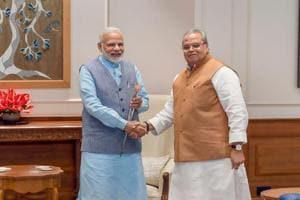 Jammu and Kashmir Governor Satya Pal Malik calls on Prime Minister Narendra Modi on August 27, 2018.