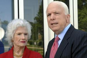 """Roberta McCain  is expected to attend memorial and burial services in Washington and Maryland later this week for the middle son she called """"Johnny,"""" the Vietnam prisoner of war, congressman, senator and two-time presidential candidate who died of brain cancer on Saturday at age 81."""
