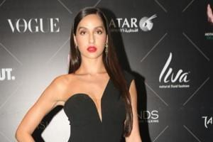 Nora Fatehi at the red carpet of Vogue Beauty Awards in Mumbai on July this year.