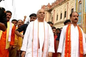 Former VHP chief Pravin Togadia, who visited Ayodhya in June, had earlier demanded the BJP government to legislate a law within four months for constructing a temple at the disputed site.