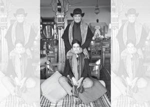 Raghu Rai recreates an old memory with daughter Avani Rai at his home in Delhi
