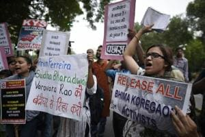 Photos: Protests across India as rights activists put under house arrest