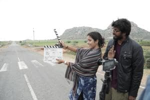 Seby Varghese and a crew member during a shoot for his road movie, Unfateful, for which he raised Rs 8 lakh through crowdfunding over a span of 10 weeks.