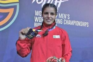 India's Shakshi defeated Nikolina Cacic of Croatia to bag her successive gold medal in the featherweight category