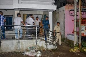 The Maharashtra anti-terrorism squad raids the house of Sanatan Sanstha member Vaibhav Raut at Nalasopara in Palghar on Friday. The ATS seized huge quantities of explosives from his residence.