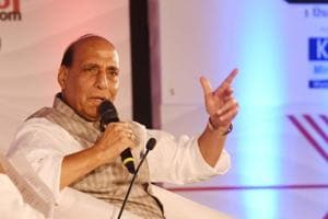 Union Home Minister Rajnath Singh at the Hindustan Shikhar Samagam, in an inteactive session at Indira Gandhi Pratishan in Lucknow, India, on Saturday, September 1, 2018.