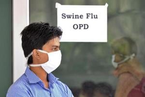 Swine flu suspect patients outside swine flu screening centre Swine Flu (H1N1 Influenza Virus) ward at RML Hospital in New Delhi  in February 2015. A 29-year-old woman became the first victim of H1N1 in Thane this year, after she tested positive for the virus on Thursday.