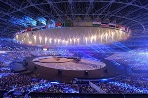 A view of the stadium during the closing ceremony of the Asian Games 2018 in Jakarta.