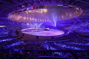 A view of the stadium during the closing ceremony of the Asian Games 2018.