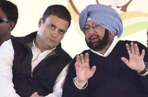 Congress president Rahul Gandhi and Punjab CM  Captain Amarinder Singh