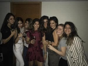 Ananya Birla (third from left) with her friends.
