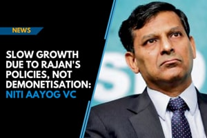 Slow growth due to Rajan's policies, not demonetisation: NITI Aayog VC
